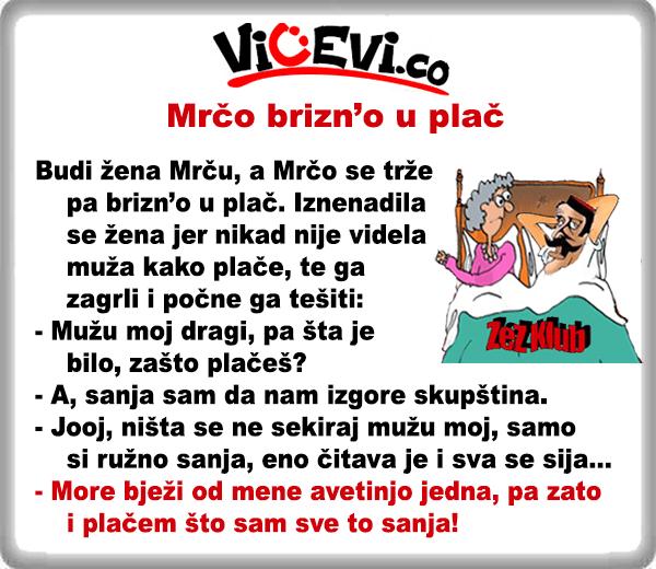 Mrčo brizn'o u plač @ vicevi o Crnogorcima