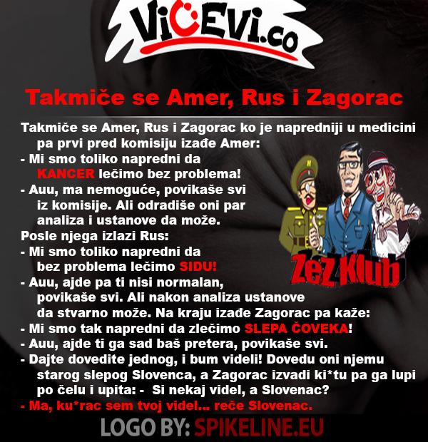 Takmiče se Amer, Rus i Zagorac @ vicevi o Hrvatima - Zagorcima, vicevi o Narodima