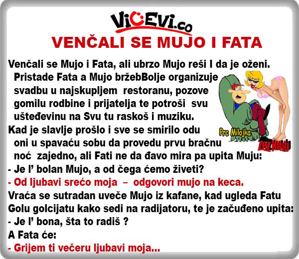 Venčali se Mujo i Fata @ vicevi o Bosancima, o Mužu i Ženi, o Muji i Fati