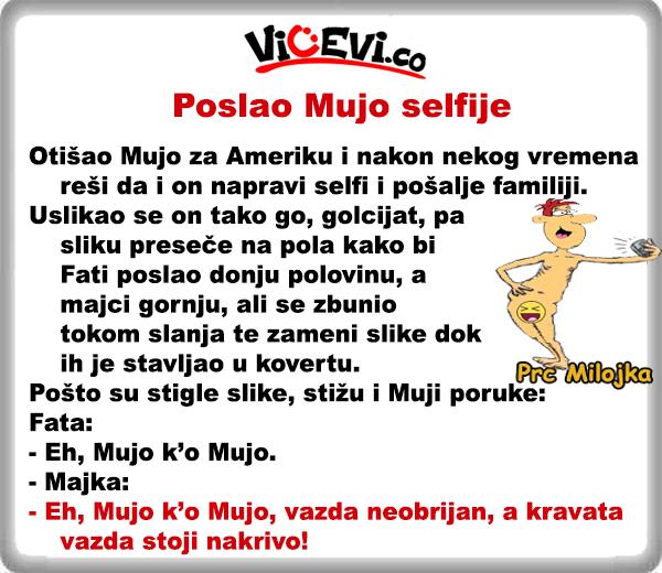 Poslao Mujo selfije @ vicevi o Bosancima, vicevi o Muji i Fati