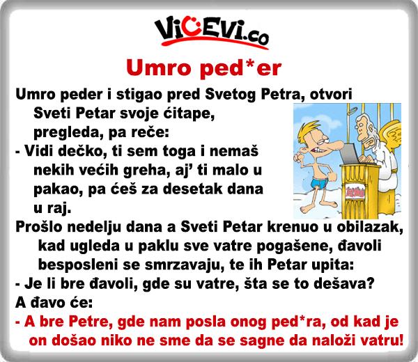 Umro ped*er @ Vicevi nesvrstani