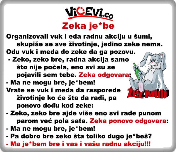 Zeka je*be @ Vicevi o Životinjama