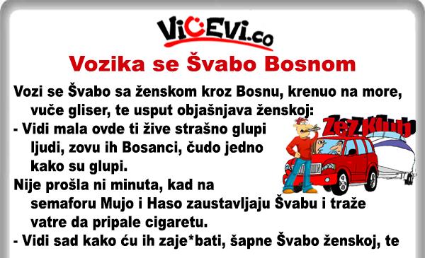 Vozika se Švabo Bosnom @ Vicevi o Bosancima