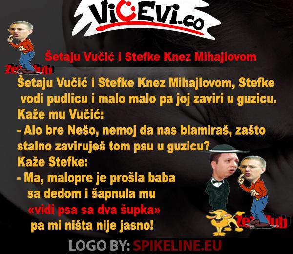 Šetaju Vučić i Stefke Knez Mihajlovom @ Vicevi o Političarima