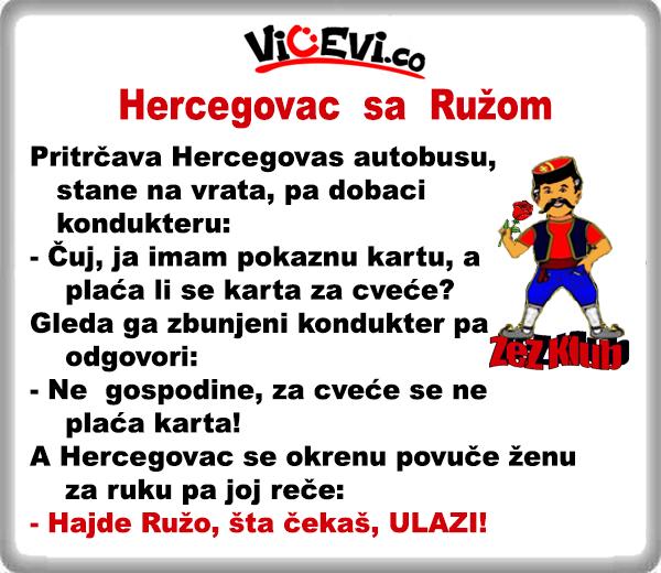 Hercegovac sa Ružom @ Vicevi o Hercegovcima