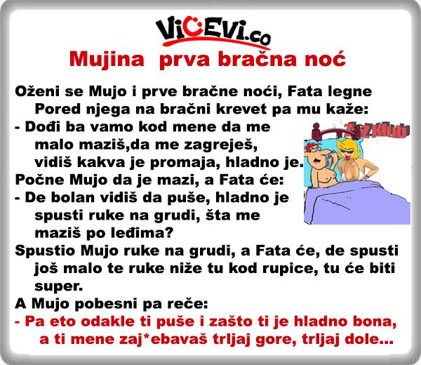 Mujina prva bračna noć @ Vicevi o Bosancima