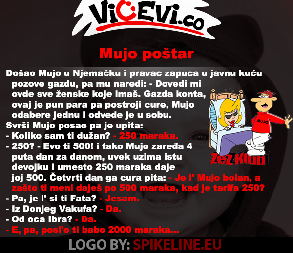 Mujo poštar @ Vicevi o Bosancima