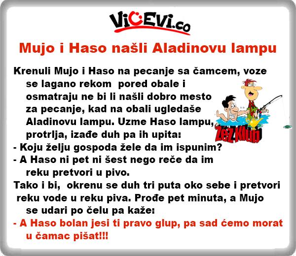 Mujo i Haso našli Aladinovu lampu @ Vicevi o Bosancima