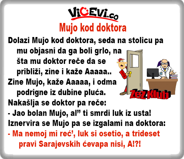 Mujo kod Doktora @ Vicevi o Bosancima