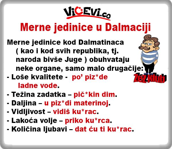 Merne jedinice u Dalmaciji @ Vicevi o Hrvatima -  Dalmatincima