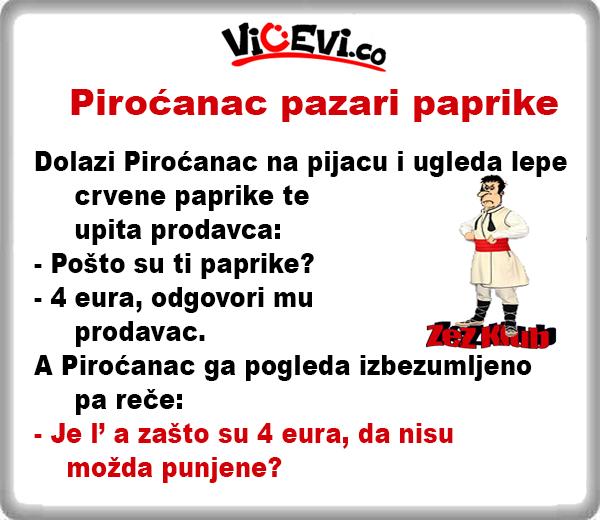 Piroćanac pazari paprike @ Vicevi Jug Srbije, vicevi o Piroćancima
