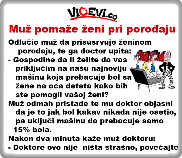 Muž pomaže ženi pri porođaju @ Vicevi o Poštarima, vicevi o mužu i ženi, vicevi o doktorima