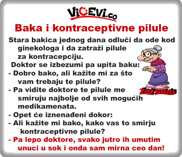 Baka i kontraceptivne pilule @ Vicevi o babi i dedi