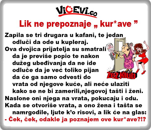 """Lik ne prepoznaje """" kur*ave  """" @ Vicevi o Mužu i Ženi"""