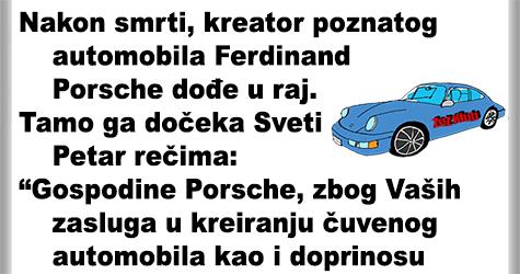Sveti petar dočekuje Ferdinanda Porschea @ Vicevi o Javnim