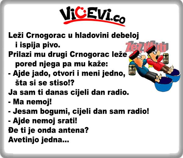Vicevi o Crnogorcima 38 @ Crnogorac cijeli dan radio