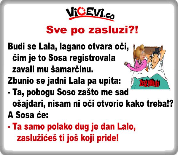 Sve po zasluzi @ Vicevi o Vojvođanima o Sosi i Lali