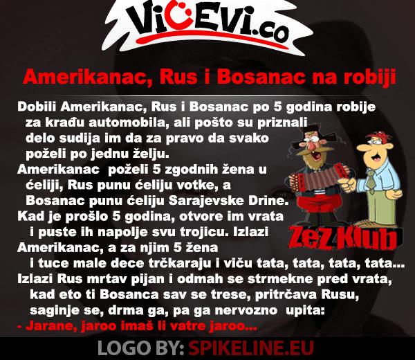 Amerikanac, Rus i Bosanac na robij, 434 Vicevi o Bosancima