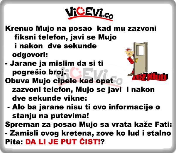 Pogrešan broj @ Vicevi o Bosancima, Muji, Fati, Mužu i Ženi